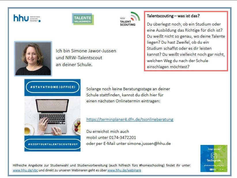 Angebot unseres Kooperationspartners Heinrich-Heine-Universität Düsseldorf